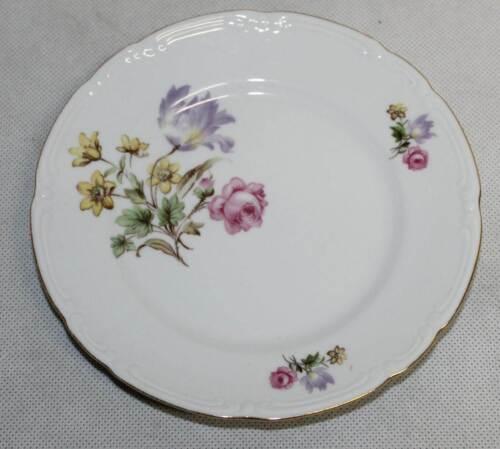 or bord assiette Porcelaine Service à Café Gâteau Assiette Triptis VEB DDR fleurs D