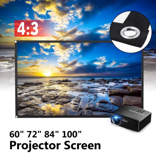 60/'/' 72/'/' 84/'/' 100/'/' 4:3 4K 3D Projector Screen Home Cinema Theatre Matte