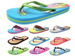 0dc861efbb95 Womens Girls Urban Beach Sandals Flip Flops Toe Posts Kids Toe Post ...