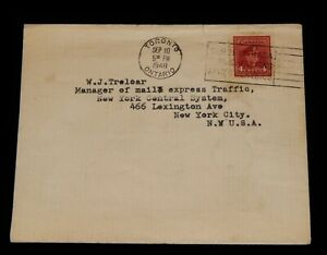 Vintage Cover,CANADA POSTAL HISTORY, 1948, Toronto, ON, King George VI War Issue