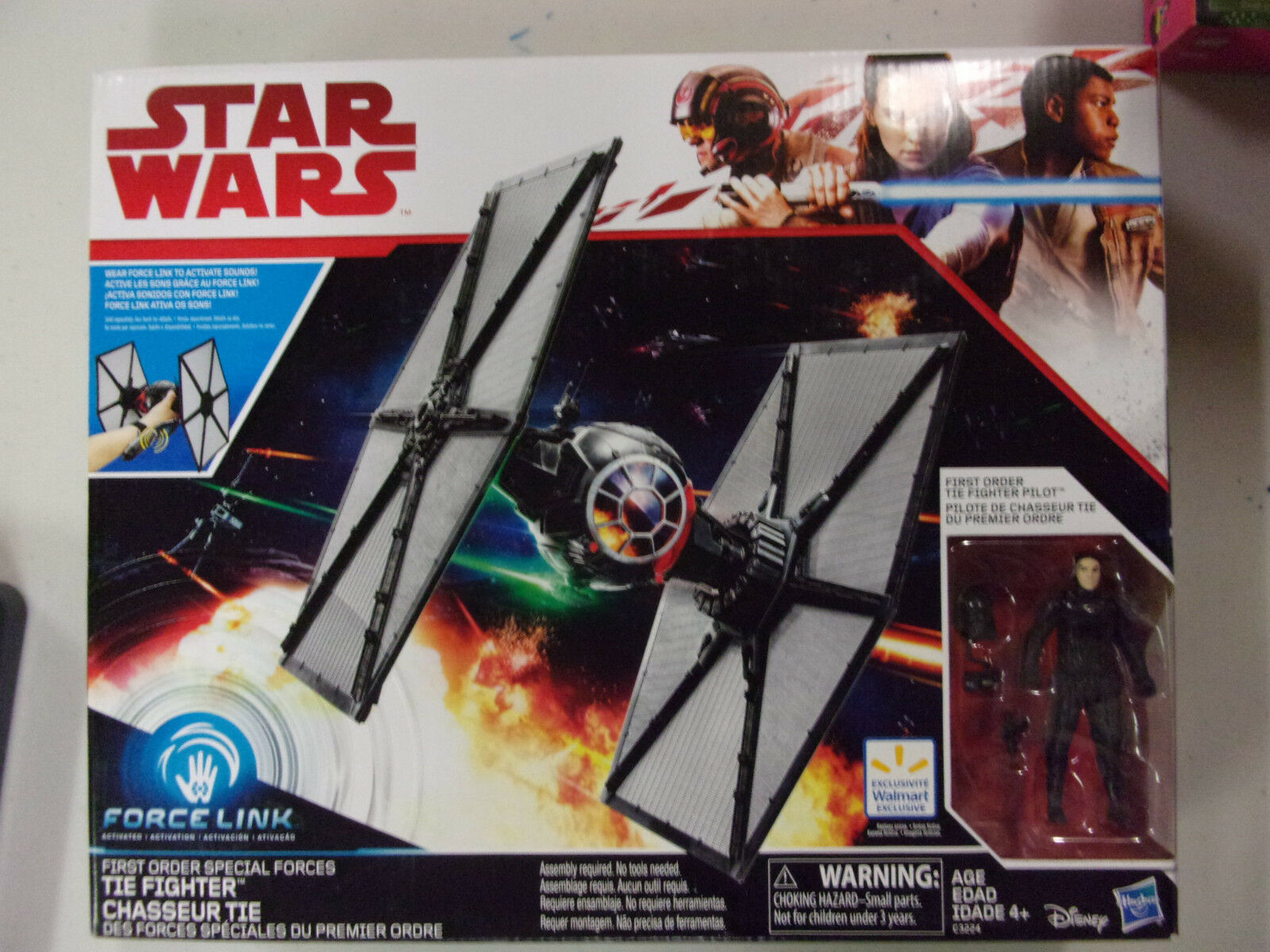 Force Link Tie Fighter /& Figure Star Wars C3224 First Order Special Forces