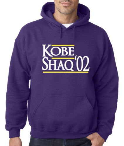 "Los Angeles Lakers Kobe Bryant /""Kobe Shaq /'02/"" Jersey shirt Hooded SWEATSHIRT"