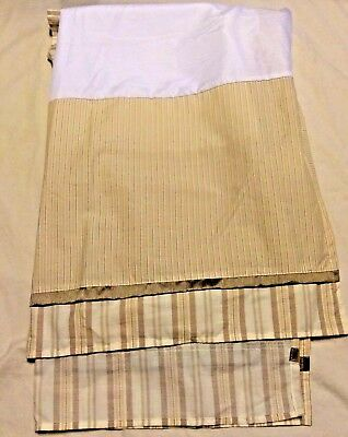 New Carter/'s JUST ONE YEAR Striped Dust Ruffle Crib Skirt Brown Pink Green Girls