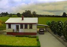 AUSTRALIAN 1950's Style Fibro cement House 23x13cm HO 1/87 scale Wooden kit MTB