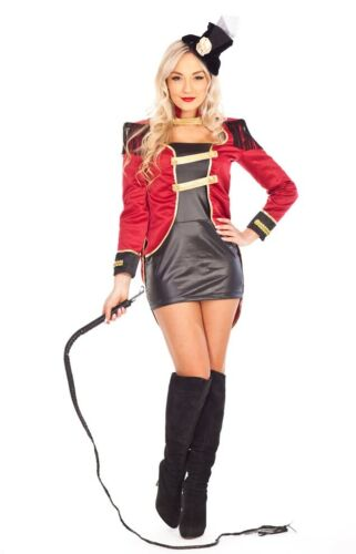 Ladies Ringmaster Circus Lion Tamer Magician Costume Showgirl Fancy Dress