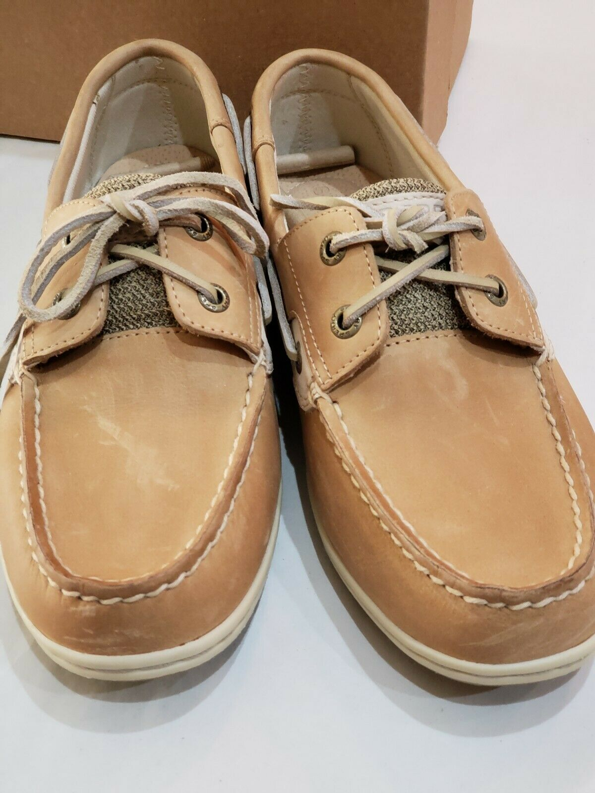 Women's Sperry Koifish Boat shoes shoes shoes Core Linen Size 7.5 STS95589 42f473