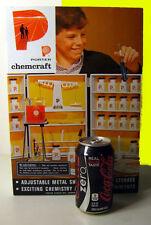 VINTAGE 60's Science lab microscope tin box shelf kit CHEMcraft magic test tube