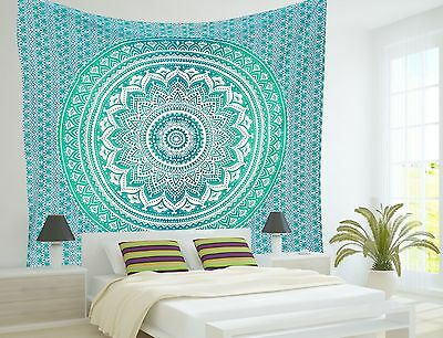 Large Indian Mandala Tapestry Decorative Ombre Mandala Wallhanging Boho Wall Art