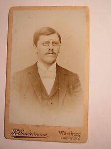 Adroit Würzburg-connexion Lumpia Ws 1893/94 - J. Stenier? Steiner? Cdv Studentika-afficher Le Titre D'origine