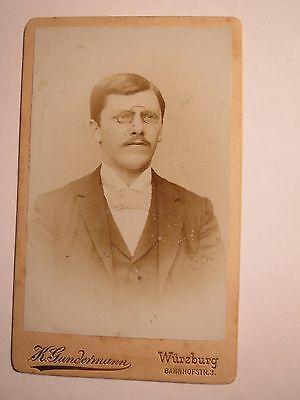 Würzburg - Verbindung Lumpia Ws 1893/94 - J. Stenier ? Steiner ? Cdv Studentika