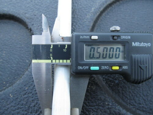 """Structural Fiberglass Rod,Tapered from 3//4/"""" to 1//2/"""" dia 8/'  Round White Rod"""