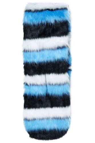BNWT TOPSHOP BLUE EXTREME STRIPE FAUX FUR PULL THROUGH STOLE