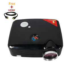 Home Cinema 2500 Lumens Multimedia HD LED Projector 1080P with Free HDMI Cable