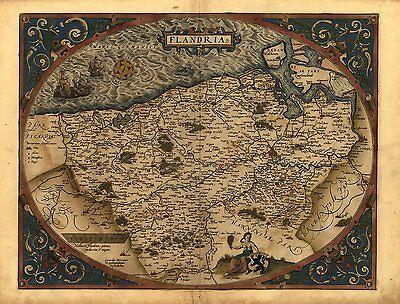 NEW Europe Evropae Antique Map Abraham Ortelius Reproduction Old European Map