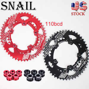 US-35-50T-Double-Speed-MTB-Bike-Oval-Chainring-Fit-SHIMANO-SRAM-110bcd-Crankset