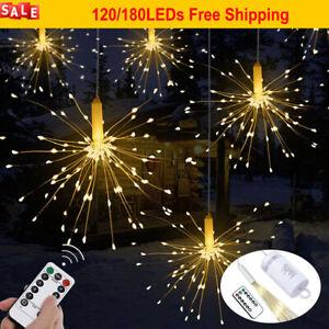 Feuerwerk-120-180LEDs-Lichterkette-Weihnachten-Innen-Aussen-Beleuchtung-Dekor