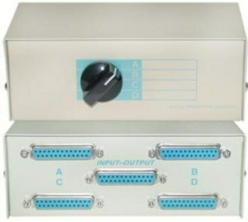 Manual 3 Way Rs232 Data Transfer Switch Parallel Or Serial Port A B C Db25f For Sale Online Ebay