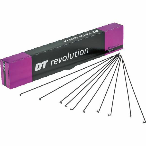 DT Swiss Revolution radios negro 14 17 G = 2 1.5 mm Box 100, 294 mm