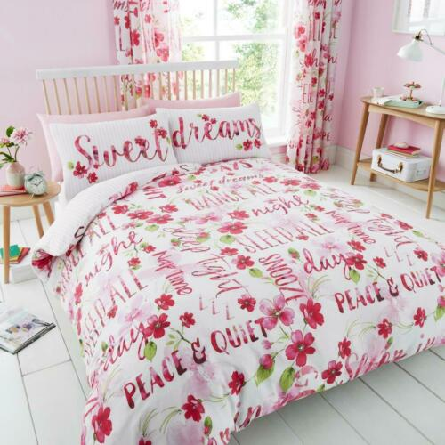 Sweet Dreams Luxury Duvet Covers Quilt Covers Reversible Bedding Set All Sizes