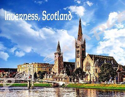 Travel Souvenir Flexible Fridge Magnet Scotland INVERNESS