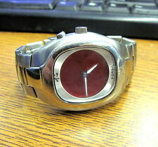 FOSSIL BIG TIC RED DIAL JAPANESE CHARACTERS WATCH VINTAGE