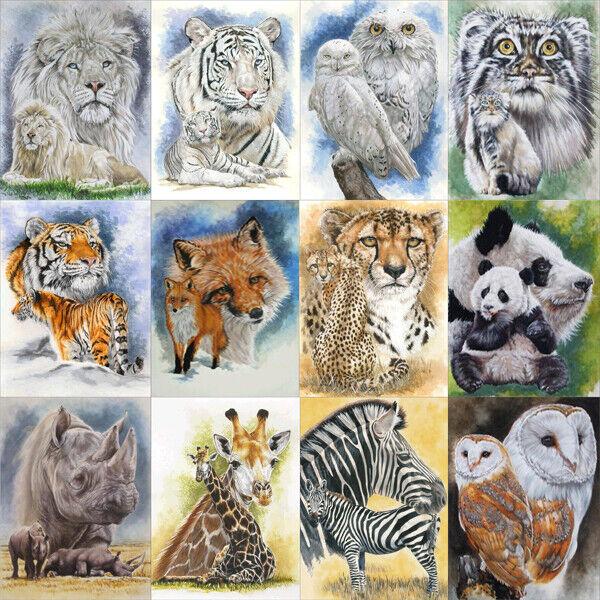 Animals Full Drill DIY 5D Diamond Painting Embroidery Cross Stitch Decor Kit Hot