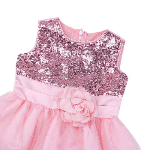 Fleur Fille Enfant Bébé Paillettes Princesse Parti Mariage demoiselle d/'honneur formel robe tutu