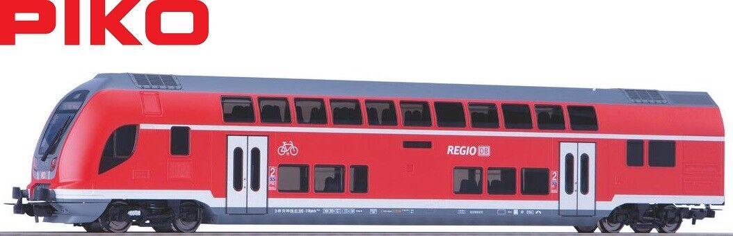 PIKO h0 58805 doppio piano carrello fiscale 2. CLASSE delle DB Regio-NUOVO + OVP