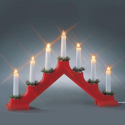 PLASTIC CANDLE BRIDGE ARCH LIGHT BULBS CHRISTMAS XMAS WINDOW INDOOR DECORATION