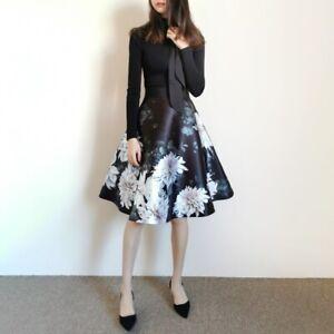 NEW-AUTH-Ted-Baker-JORDYNN-Clove-full-skirted-mockable-dress-Black-0-5