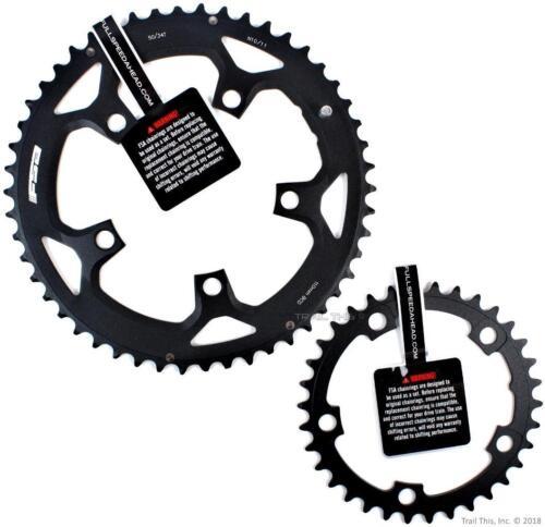 FSA Pro 50//34T 110mm BCD Road Bike Chainring Set fits 10//11-speed SRAM//Shimano