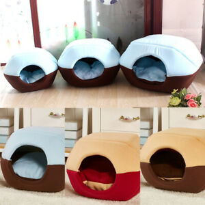 Pet-Cat-Dog-House-Kennel-Puppy-Cave-Sleeping-Bed-Soft-Mat-Pad-Winter-Warm-Nest