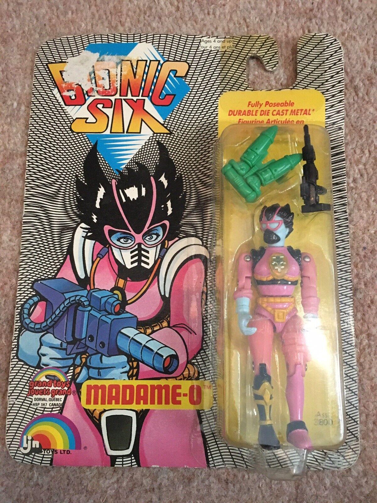Bionic seis Madame-O vintage figura Ljn Juguetes Ltd. francés inglés 1986