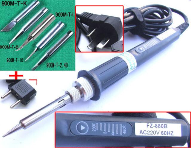 AC 220V 200°C-480 °C 60W Soldering Iron PENCIL 7 stall regulation +EU Power plug