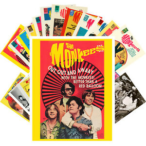 Postcards-Pack-24-cards-Monkees-Rock-Music-Posters-Vintage-Photos-CC1218