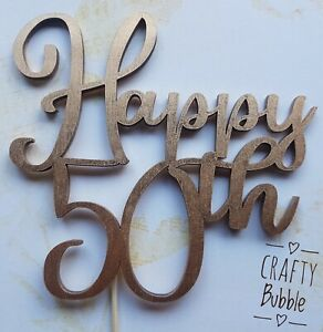Birthday-Cake-topper-ANY-AGE-50th-60th-70th-etc-ANY-COLOUR-WOOD-NOT-CARD