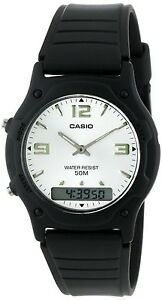 72ef92b42 Image is loading Casio-Classic-White-Analog-Digital-50m-Water-Resistant-