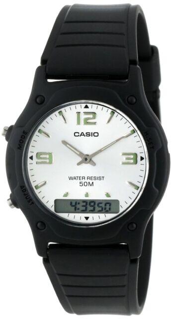 4c79b77d6 Casio Classic White Analog Digital 50m Water Resistant AW49HE-7AV Watch New