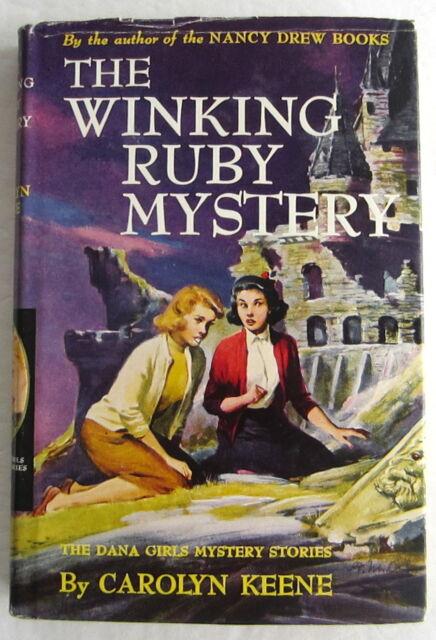 Dana Girls #19 Winking Ruby Mystery Nancy Drew Author Carolyn Keene Dust Jacket