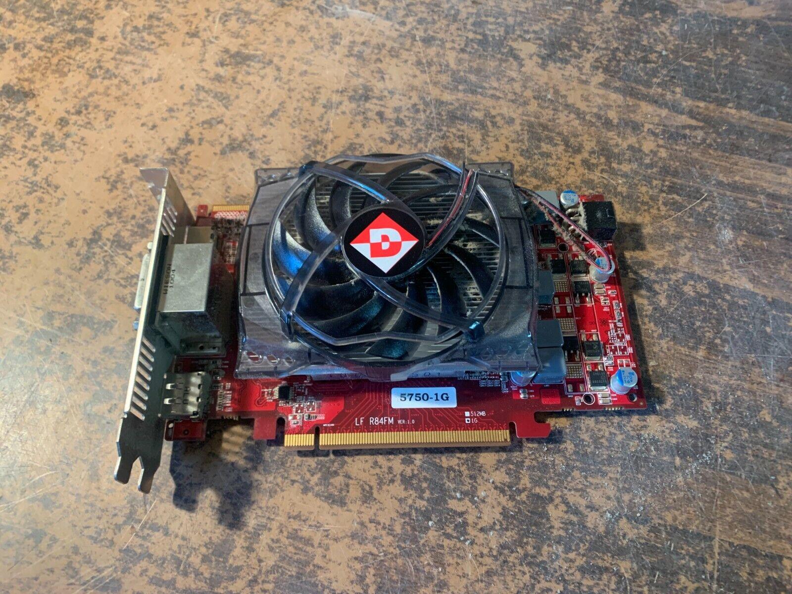 DIAMOND Radeon HD 5750 1GB DirectX 11 5750PE51G 128-Bit GDDR5 PCI Express 2.0 x1