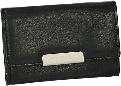 MARTIN WESS GERMANY ONYX NAPPA LEATHER STAND UP TOBACCO POUCH *NEW IN BOX* LARGE