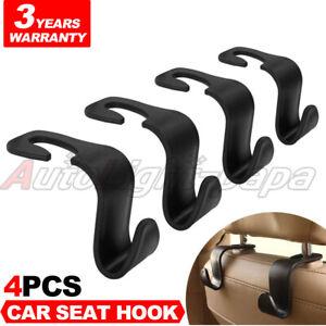 Car Seat Headrest Hook Purse Hanger Organizer Backseat Bag Hanging Holder Black