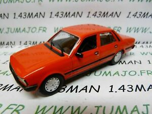 PL95M-VOITURE-1-43-IXO-IST-deagostini-POLOGNE-PEUGEOT-505-GTI-rouge