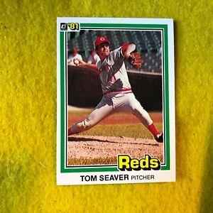 CINCINNATI-REDS-NEW-YORK-METS-TOM-SEAVER-1981-DONRUSS-MLB-BASEBALL-CARD-422