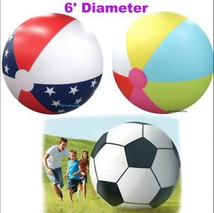 Image Is Loading Huge 6 Foot Beach Ball Inflatable Sport Park