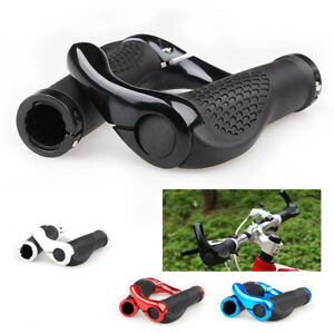 Ergonomic-MTB-Mountain-Bike-Bicycle-Handlebar-Rubber-Grips-Cycling-Lock-On-Ends