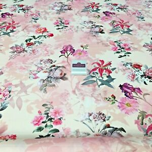 Floral Print Silky Satin Dress Fabric c6911-Rose-M