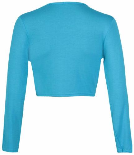 Nouveau Femme Tie Up Crop Shrug Femme Wrap Ouvert BOLERO Cardigan Femme Taille 8-14 bolw