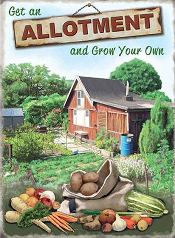 Allotment Grow your own - Metal Wall Sign (3 Größes - Small   Large and Jumbo)