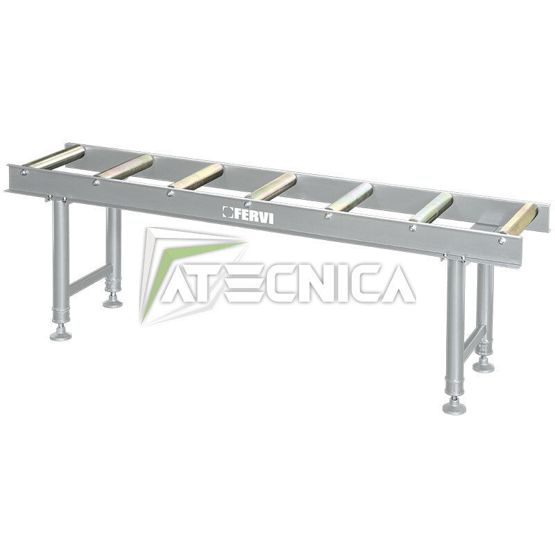 Rulliera R001/07 regolabile in altezza da 2mt FERVI R001/07 Rulliera rulli diam 60x360mm 8ae60d